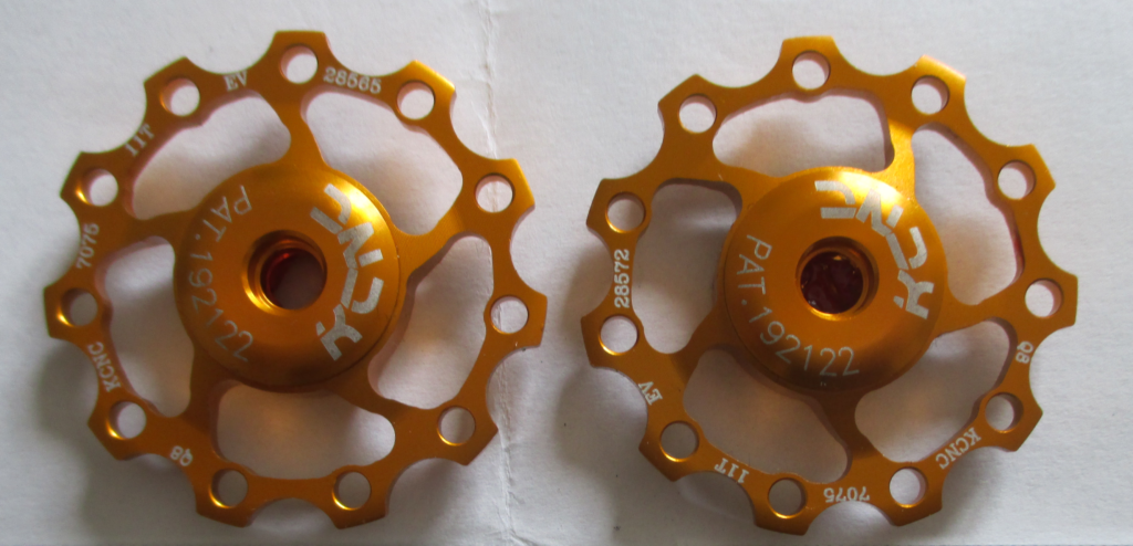 Gold jockey wheels
