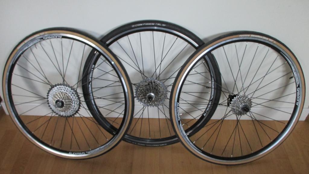 Variety pack of wheels
