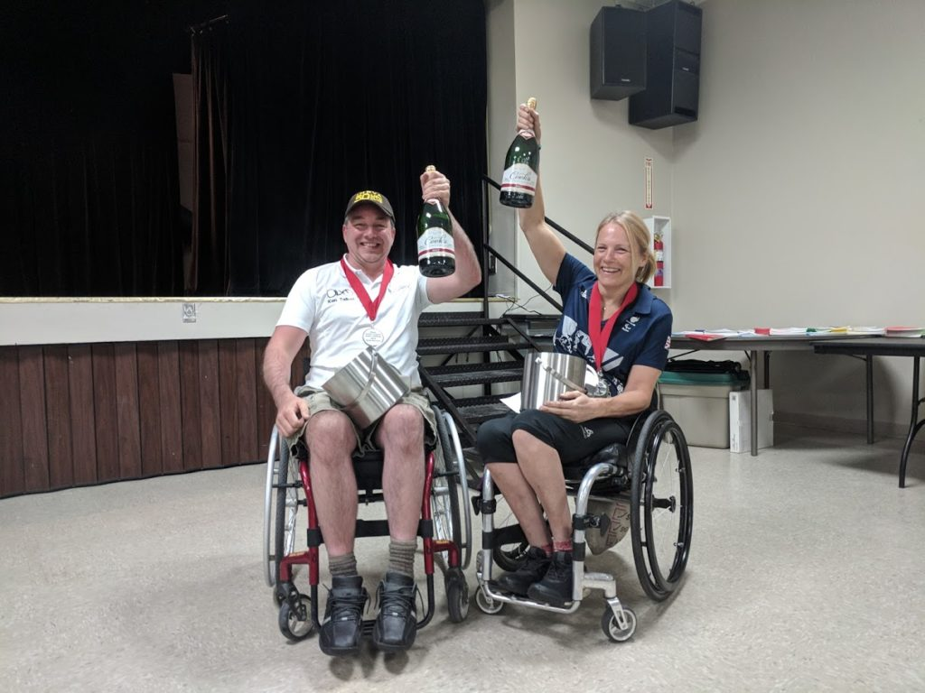 Ken Darke and Ken Talbot with awards